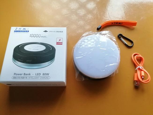 メルカリでPower Bank LEDを購入。実際にキャンプで使った感想